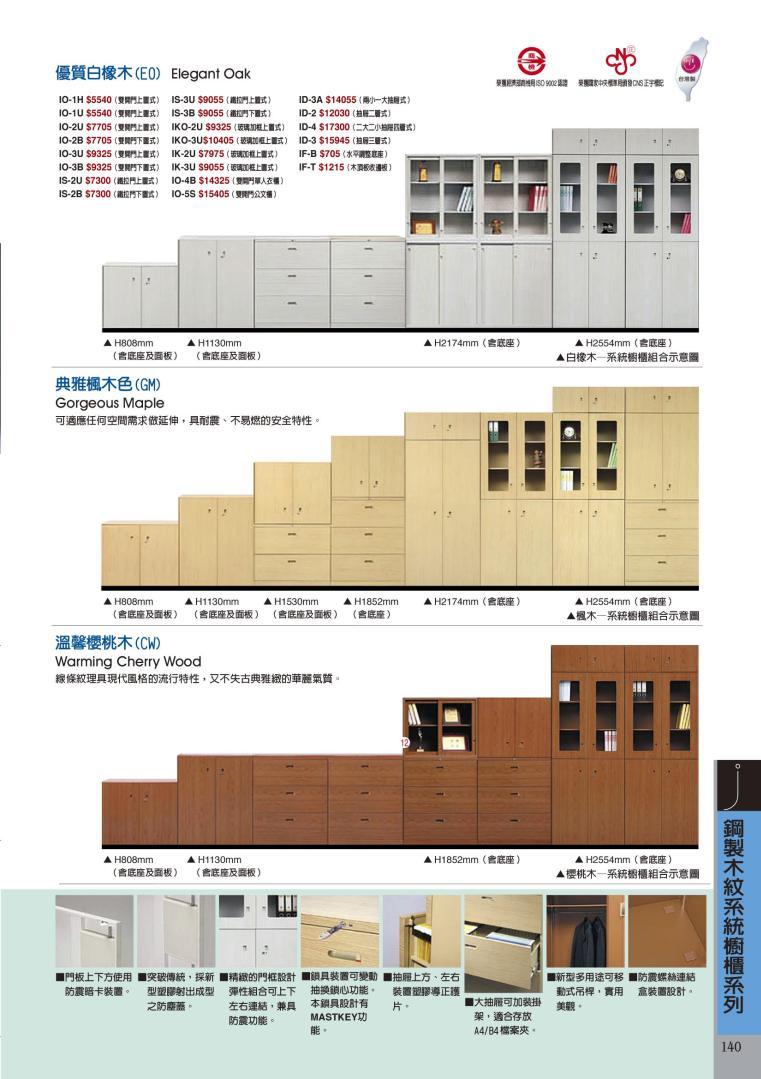 鋼製木紋櫃型錄